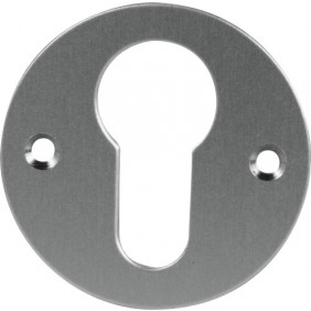 Rosace emboutie en aluminium - fonction clé I - diamètre 46 mm - argent JOURJON