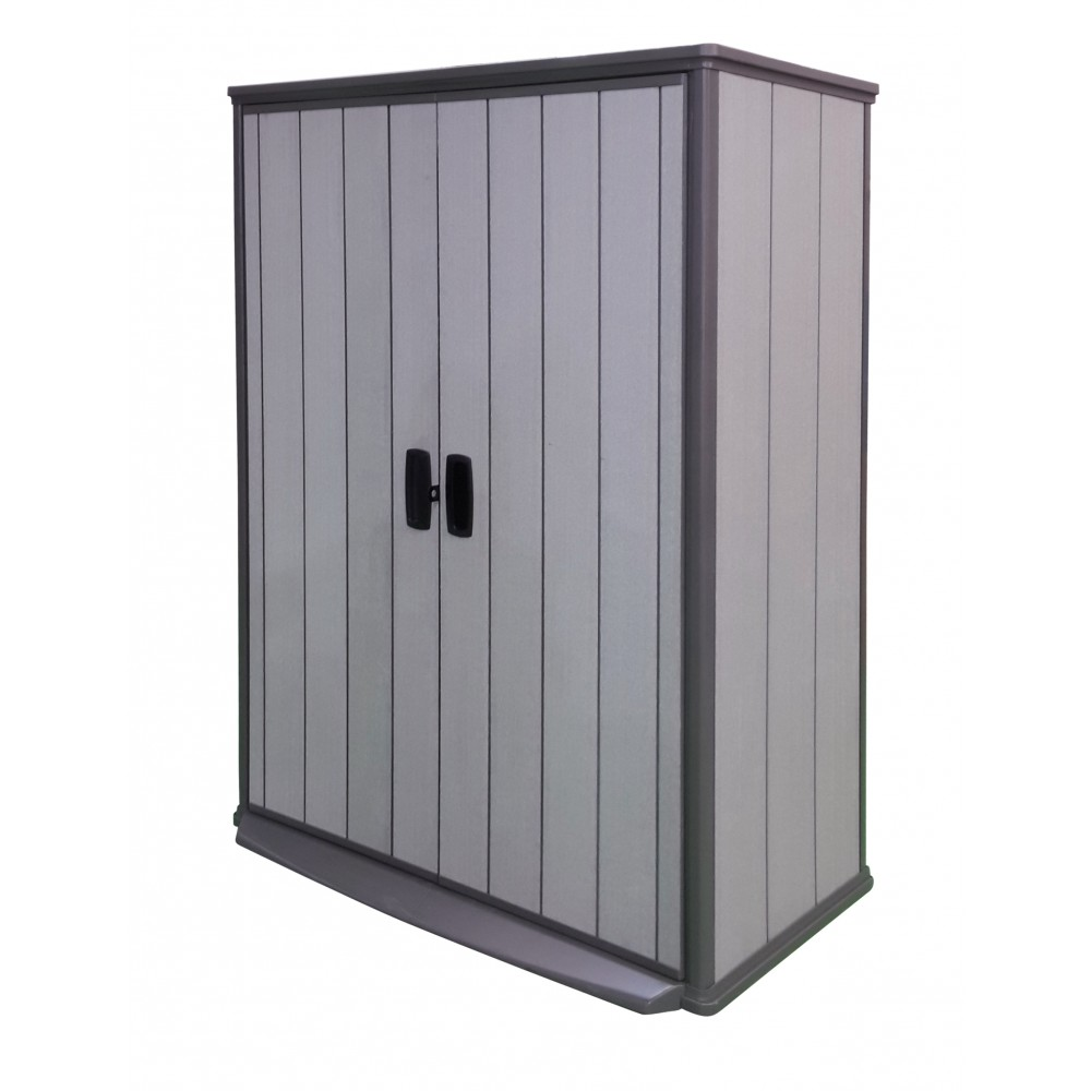 armoire de jardin en r sine 1500 litres brossium grise keter bricozor. Black Bedroom Furniture Sets. Home Design Ideas