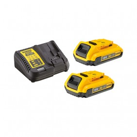 Pack 2 batteries XR 18V 2Ah Li-ion + chargeur DEWALT