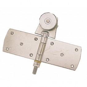 Roulette simple à charnière pour porte coulissante