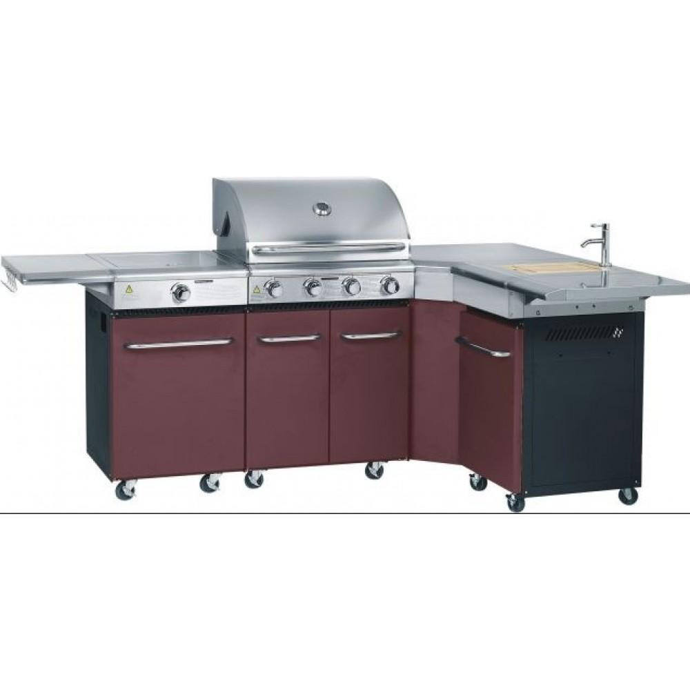 Cuisine gaz d 39 ext rieure master kitchen 4 br leurs for Mobilier cuisine exterieur