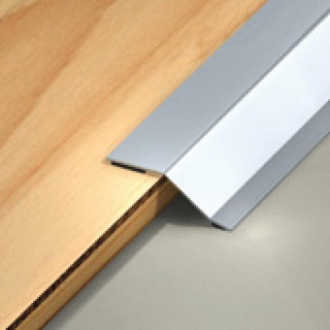Seuil de porte auto-adhésif - multi-niveaux - en inox brillant DINAC