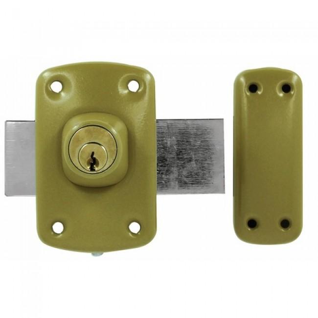 Verrou de sûreté à cylindre double pour huisserie bois - pêne 110 mm