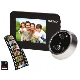 Judas de porte vidéo numérique - surveillance et enregistrement Orno