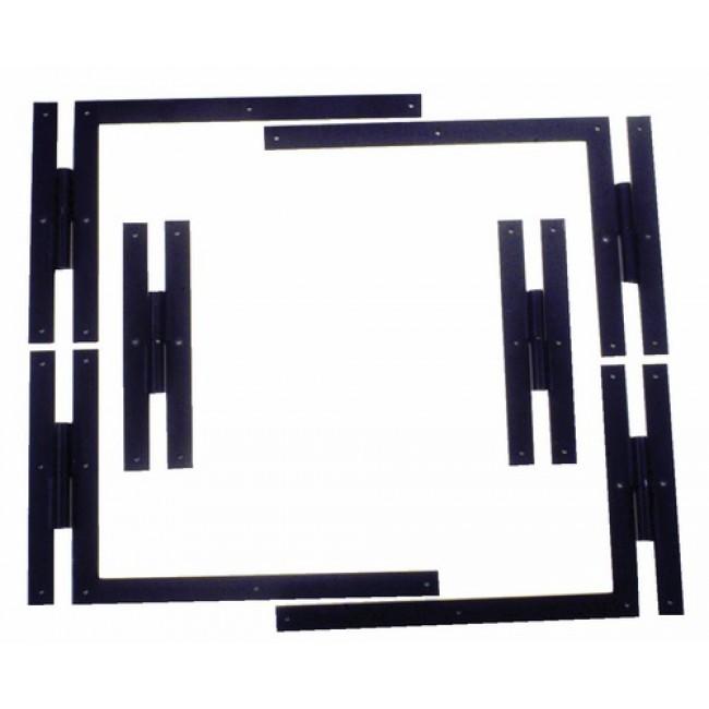 Paumelle équerre ferrage à plat - Garniture complète TORBEL