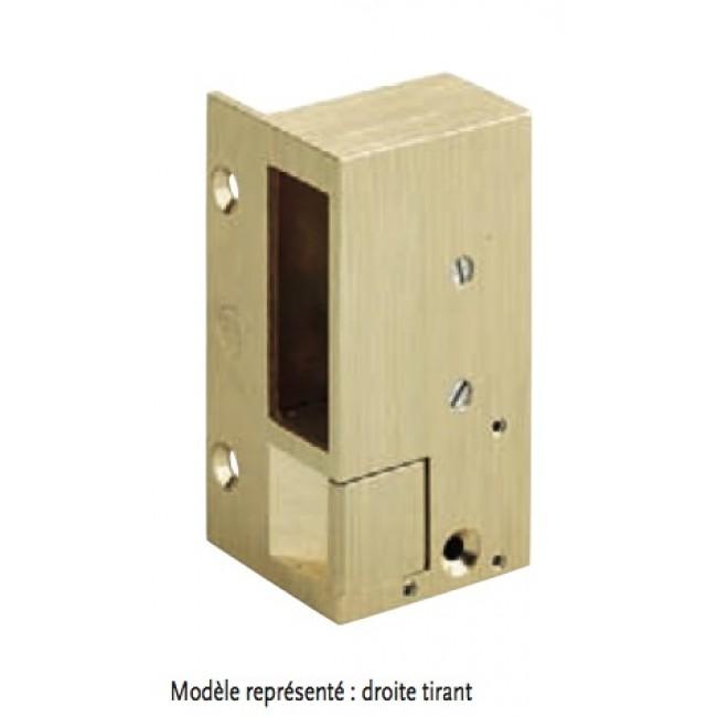 Gâche électrique en applique - à émission – bronze – 2 MÉTALUX