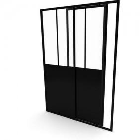 Porte de douche - Fabrik - porte coulissante - 140cm AURLANE