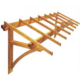 Marquise en bois pour porte de garage - 4m² - Firenze JARDIPOLYS