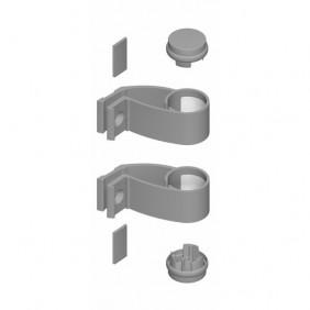 Supports ovales et bouchons pour poignées de porte Diva aluminium LA CROISÉE DS