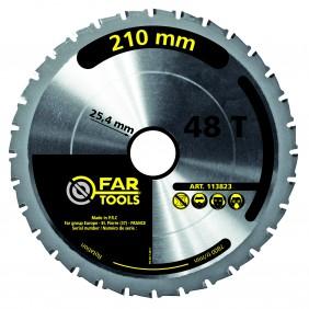 Lame scie circulaire - 210 X 25.4 mm  - 48 dents FARTOOLS