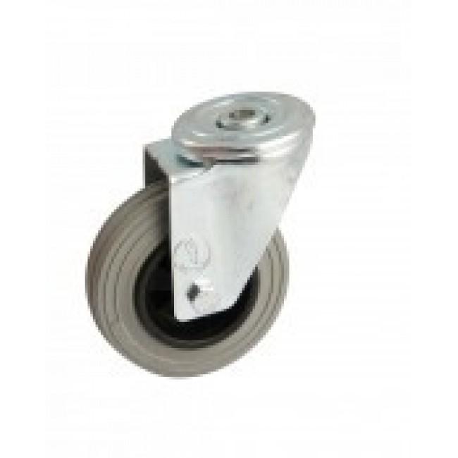 Roulette à bandage caoutchouc gris à oeil pivotant AVL