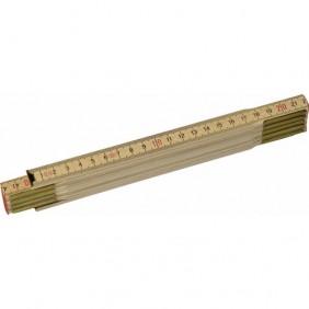 Double mètre en bois naturel 0-35-455