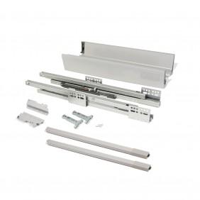 Kit tiroir Vantage-Q-hauteur 141mm-gris métallisé EMUCA
