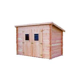 Abri de jardin en madriers Douglas 20 mm sans plancher toit - DALMAT HABRITA