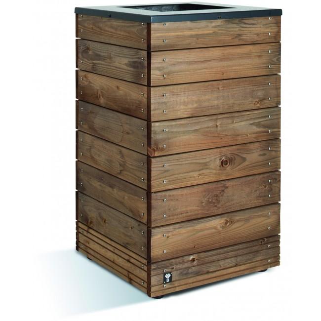Bac à fleurs en bois - 63 litres - 45 x 45 cm - hauteur 74 cm - Selekt JARDIPOLYS