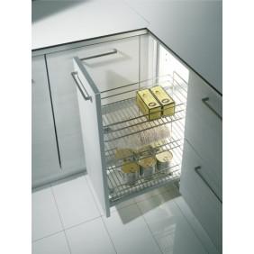 Tiroir de cuisine extractible 3 paniers - 2122 - 25 Kg INOXA