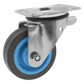 Roulette pivotante - platine - Résilex® - charges lourdes - Maxiroll GUITEL