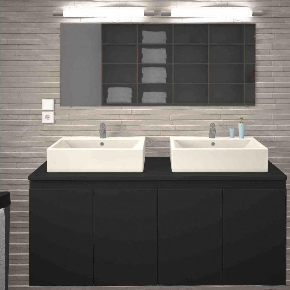 Meuble de salle de bain 120 cm - Cologne - Blanc ou Gris mat BAIN ROOM sur  Bricozor