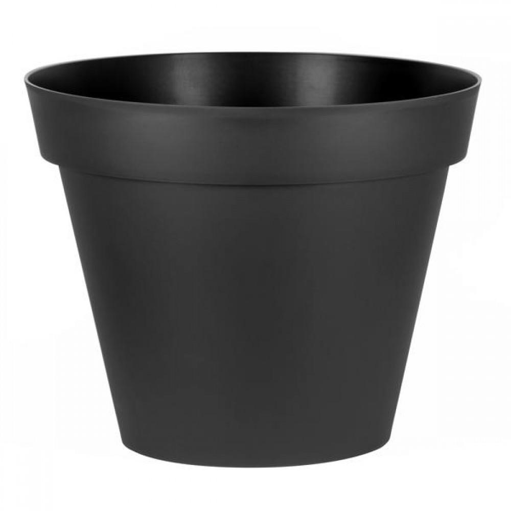 énorme réduction fdb33 9d79e Pot rond anthracite - diamètre 80 cm - 170 litres - Toscane 13623 EDA  PLASTIQUES sur Bricozor