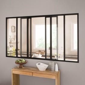 Kit verrière coulissante avec vitrage - 6 panneaux - 108 x 183,2 cm Kit Atelier