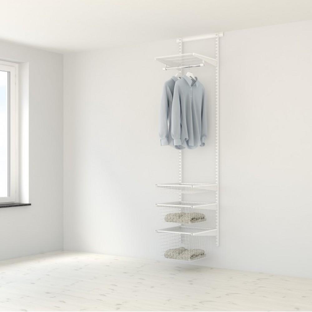 Dressing 30 Cm Profondeur kit dressing classique - l45xp40 cm - blanc elfa sur bricozor