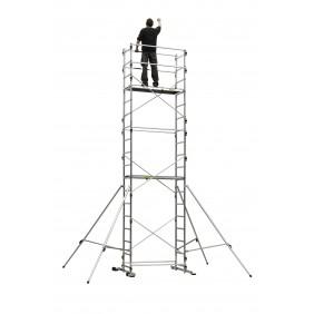 Réhausse échafaudage aluminium - hauteur de travail 6,65 m - Tek'Up