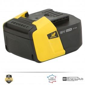 Batterie - 4,0 Ah - 18 V - pour outils EnergyHub - ENERGYHUB-18V40 PEUGEOT