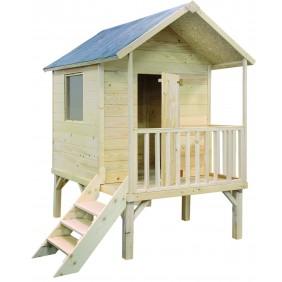 Maisonnette enfant en bois Kangourou+ 2,6 m2 sur pilotis JARDIPOLYS