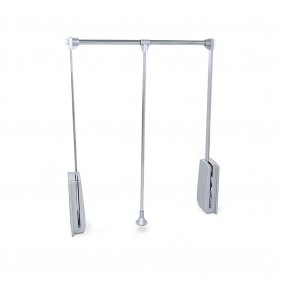 Penderie escamotable Hang-charge 12kg-chromé EMUCA