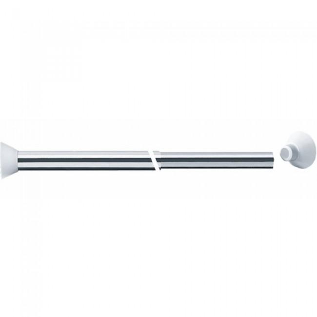 Porte rideaux droit extensible aluminium poli PELLET ASC
