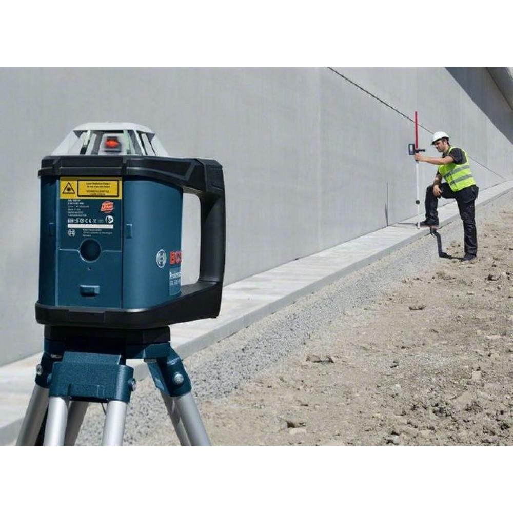 Laser rotatif grl 500 hv cellule de r ception tr pied for Niveau laser exterieur bosch