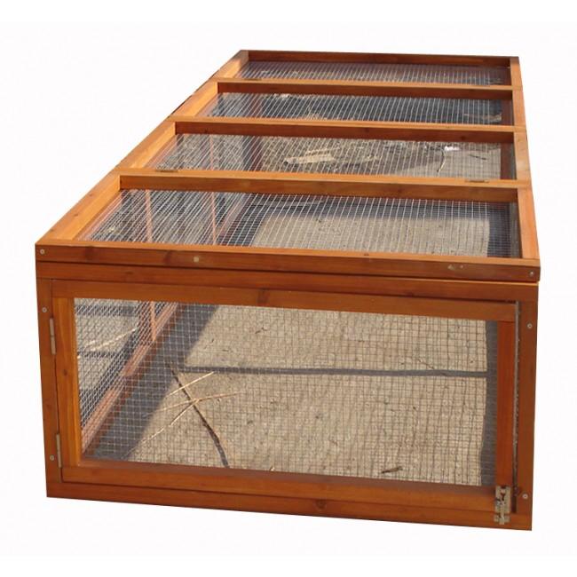 Clapier à lapins bois 1,8 x 0,9 m CL1809 HABRITA