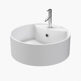 Vasque blanche - Fjord - ronde - 40x14 cm - Céramique AURLANE
