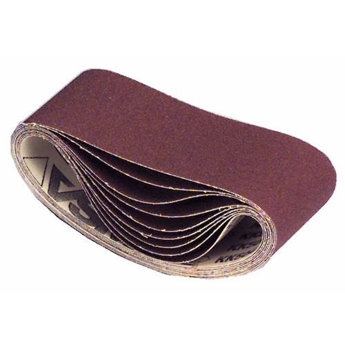 Abrasifs bandes courtes 75x610 mm toile rigide corindon KK 504 X