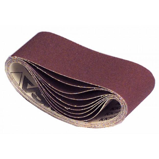 Abrasifs bandes courtes 110x620 mm toile rigide corindon KK 504 X VSM