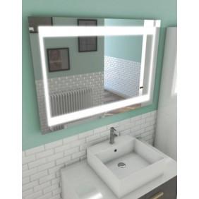 Miroir rectangulaire - auto-éclairant - Silver Futura -deux dimensions AURLANE