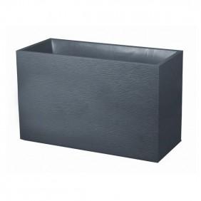 Muret - 99,5 x 39 cm - contenance 116 litres - Graphit anthracite EDA PLASTIQUES