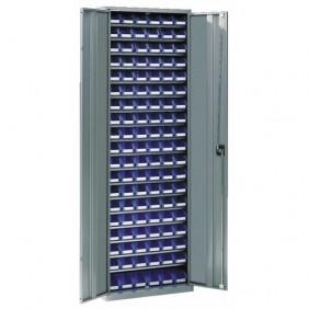 Armoire d'atelier métallique - 18 étagères - 112 bacs SCHAEFER