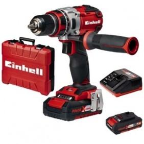 Perceuse visseuse sans fil - 18  volts - 2 batteries - brushless TE-CD EINHELL