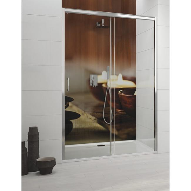 paroi de douche 140cm vitrage transparent version droite et gauche tyxo leda bricozor. Black Bedroom Furniture Sets. Home Design Ideas