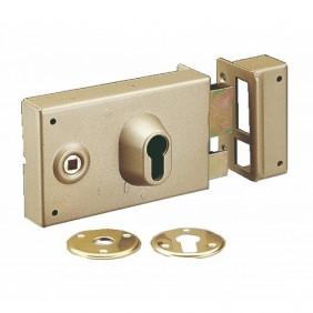 Serrure en applique horizontale à fouillot - cylindre européen - 7416 VACHETTE