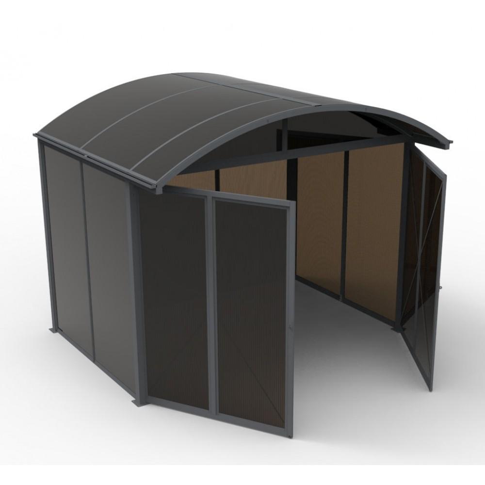 abri de jardin en aluminium et polycarbonate 3 0 x 2 4 m. Black Bedroom Furniture Sets. Home Design Ideas