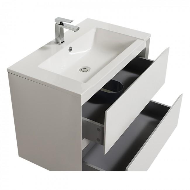 Meuble de salle de bains blanc - 80 cm - Sia - double vasque BATHDESIGN