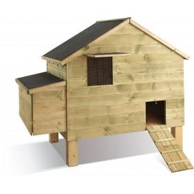 Poulailler en bois - 8 poules - Louvil JARDIPOLYS