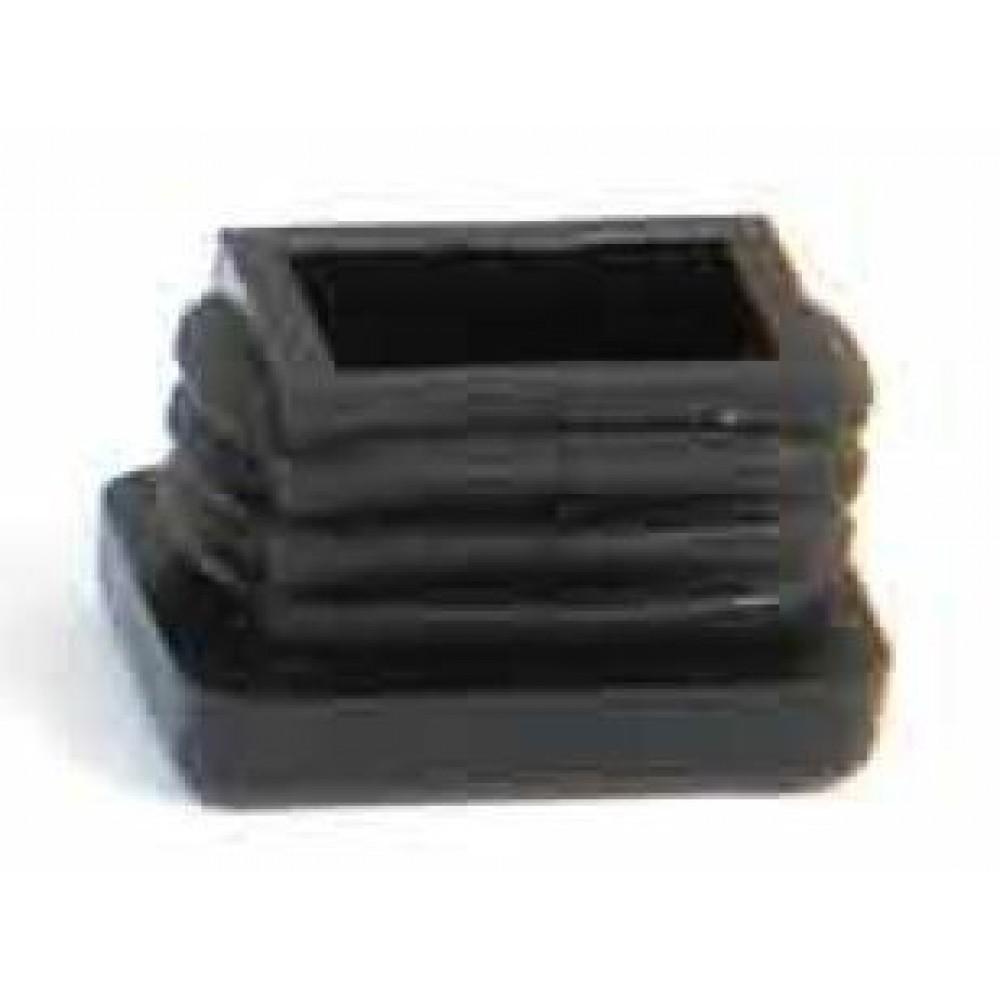 embout plastic noir entrant rectangulaire avl bricozor. Black Bedroom Furniture Sets. Home Design Ideas