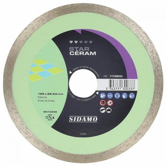 Disque diamant - jante continue - matériaux décoration - Star Céram SIDAMO