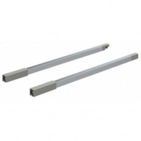 Tringles longitudinales pour tiroir InnoTech Atira-H144mm-argent HETTICH