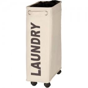 Panier à linge étroit à roulettes - Corno - 43 litres - Polyester WENKO