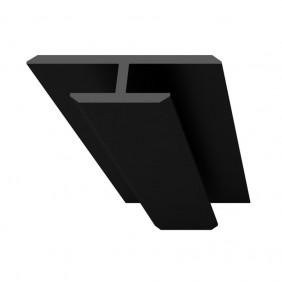 Profilé de jonction - pour panneaux Colors ou Homestone - noir AURLANE