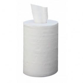 Bobine essuie-main - mini format - ouate blanche - dévidage central PAPECO